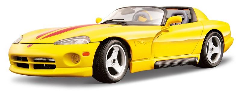 BBURAGO - 1:18 Dodge Viper RT / 10 - Yellow