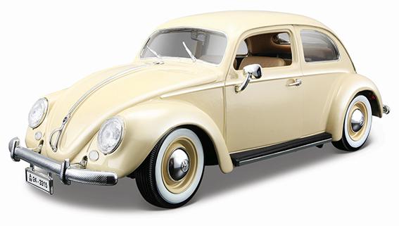 BBURAGO - 1:18 VW KAFER-BEETLE 1955 BEIGE