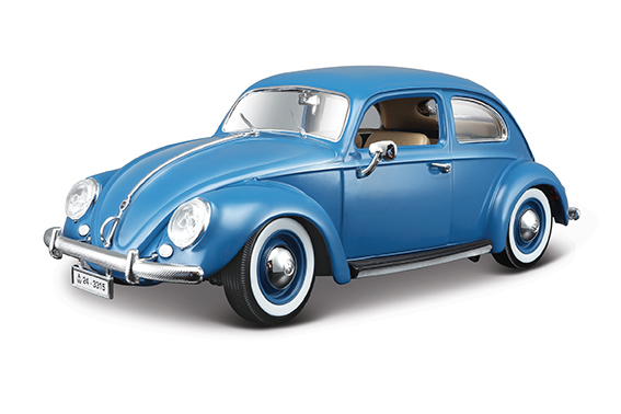 BBURAGO - 1:18 VW KAFER-BEETLE 1955 BLUE