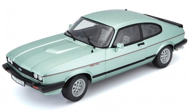 BBURAGO - 1:24 Plus Ford Capri 1982 light green