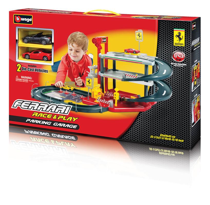 BBURAGO - Ferrari Parking Garage se dvěma autíčky