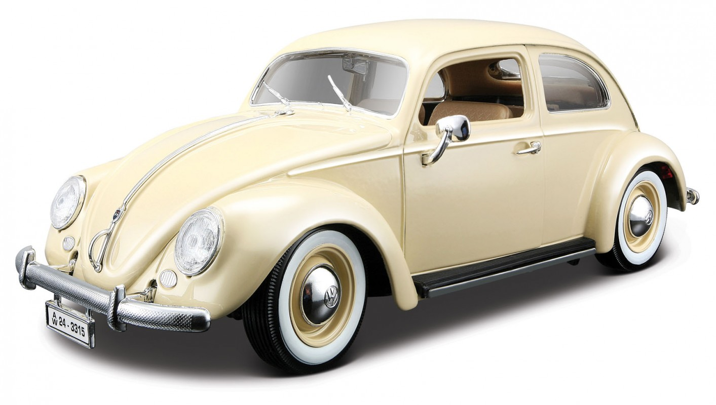 BBURAGO - Volkswagen Käfer Beetle rok výroby 1955 1:18