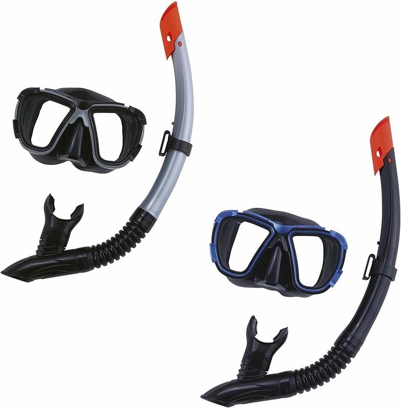 BESTWAY - 24021 Potápěčské brýle + šnorchl Hydro Pro - modrá