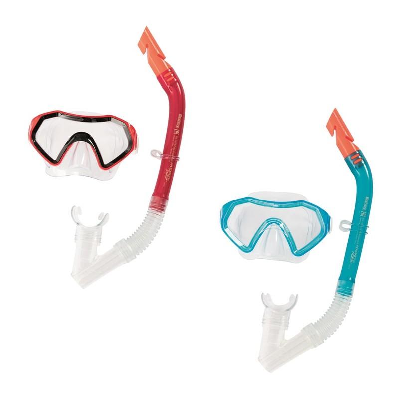 BESTWAY - 24025 Brýle potápěčské a Šnorchl 2farby - modrá