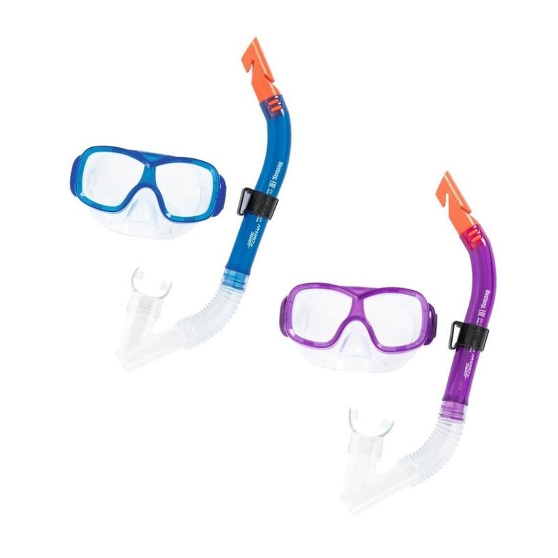 BESTWAY - 24032 Brýle potápěčské a Šnorchl Pike 2farby - modrá