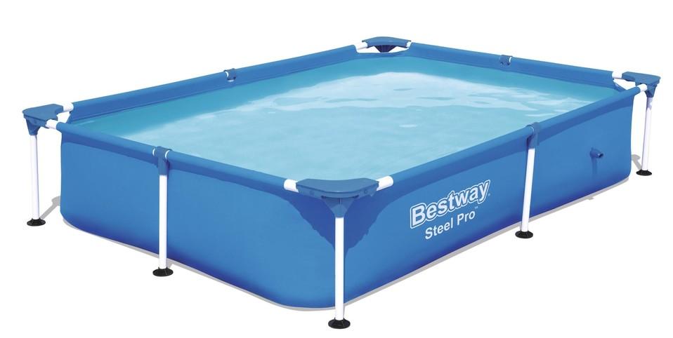 BESTWAY - 56401 Bazén pro děti Steel Pro 221x150x43cm