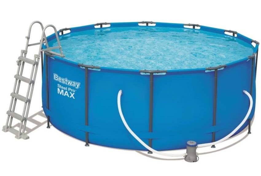 BESTWAY - 56420 Kulatý nadzemní bazén z oceli Pro MAX 366x122cm