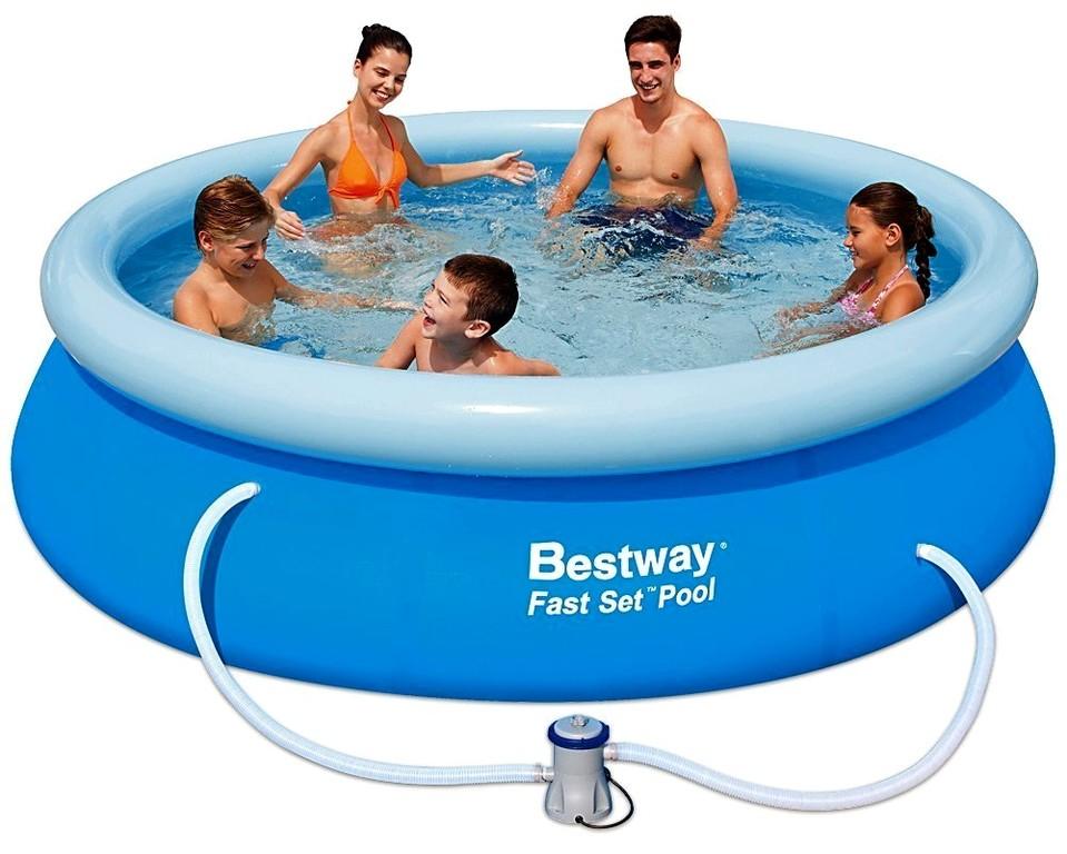 BESTWAY - 57270 Bazén Fast Set + kartušová filtrace 305x76cm