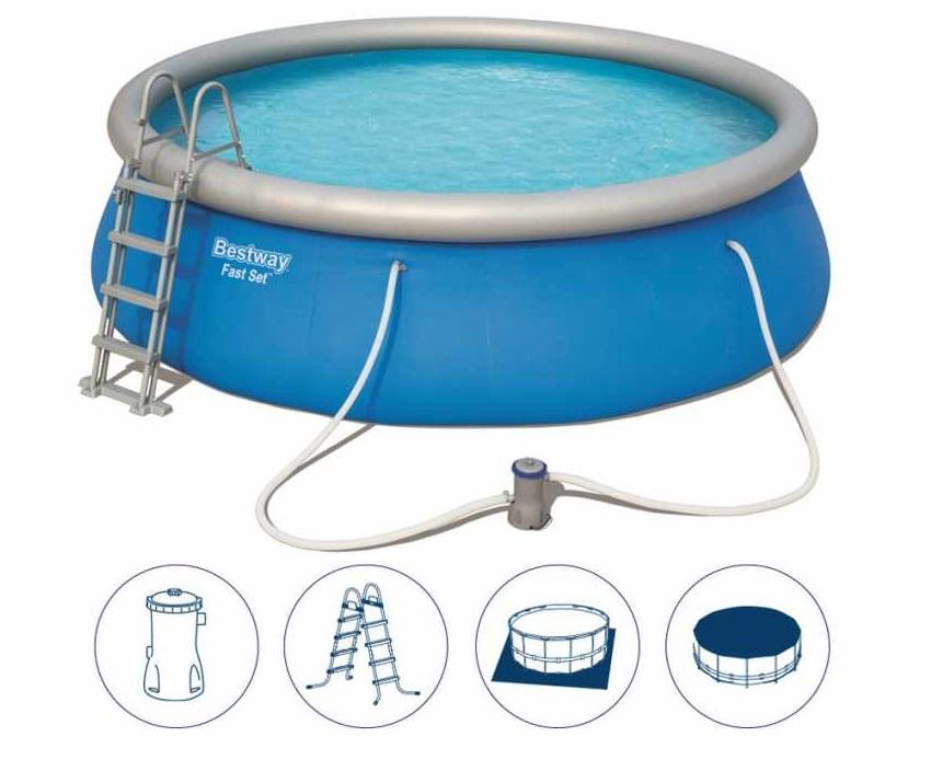 BESTWAY - 57289 Bazén Fast Set 457x122cm