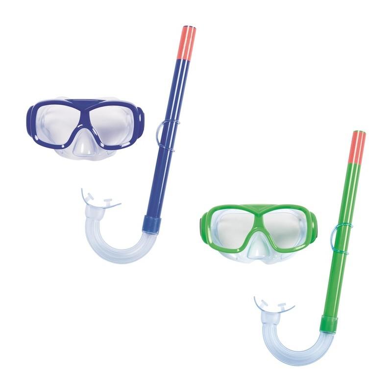 BESTWAY - Brýle potápěčské a Šnorchl Essential Freestyle - modrá