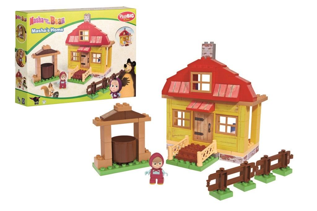 BIG - PlayBloxx Máša a medvěd Mašin dům 57096