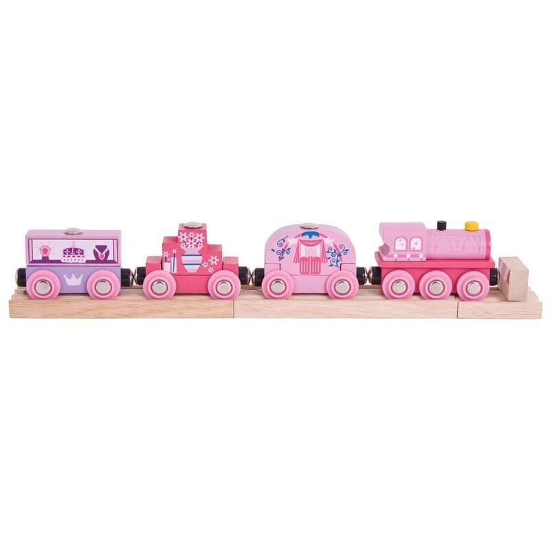 BIGJIGS - Vlak pro princezny + 3 koleje