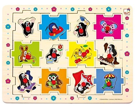 BINO - 13799 Puzzle Krteček tvary