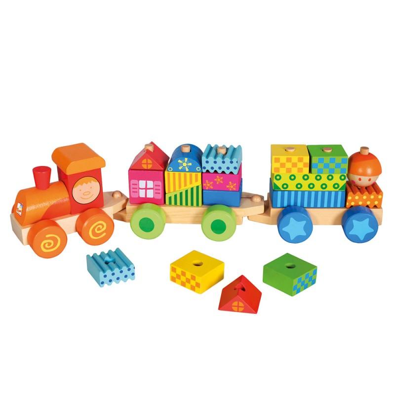 Bino - 82142 Vláček s domky