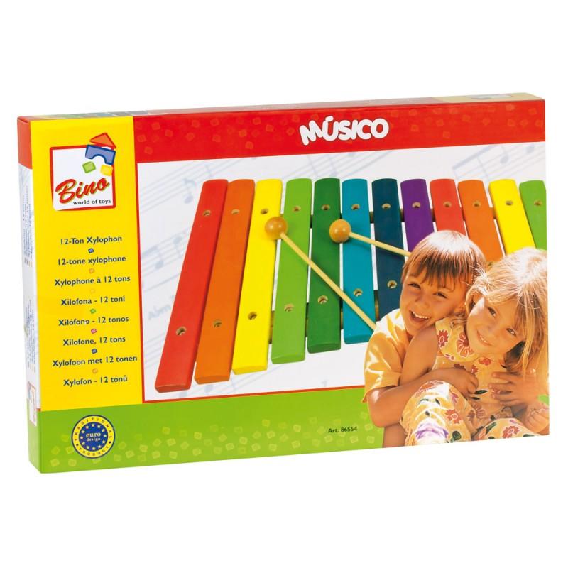 BINO - 86554 Barevný dřevěný xylofon