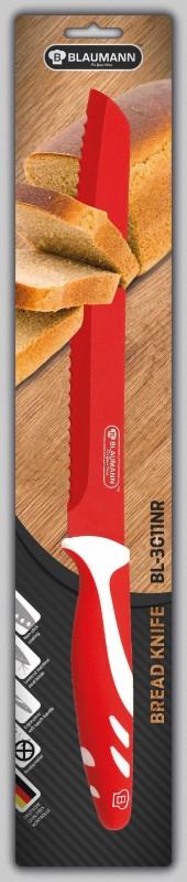 BLAUMANN - Nůž na chléb čepel 20 cm červený, BL-3011NR