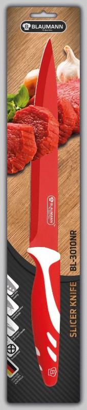 BLAUMANN - Nůž na krájení čepel 20 cm červený, BL-3010NR