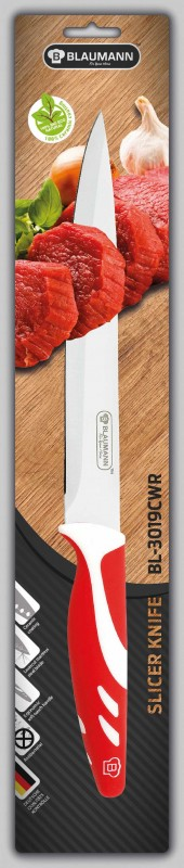 BLAUMANN - Nůž na krájení čepel 20 cm červený, BL-3019CWR