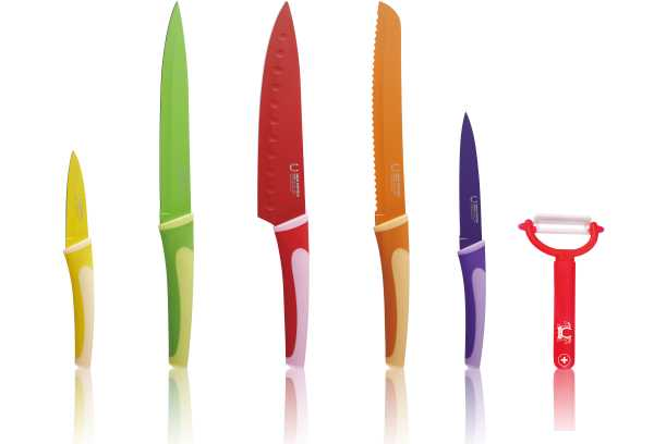 BLAUMANN - Nože kuchyňské 5ks a Škrabka