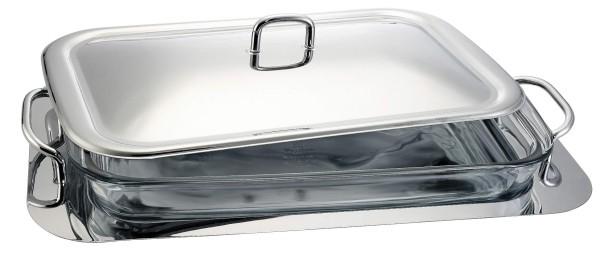 Blaumann - Ohřívač jídla s borosilikátového sklem 2 x 1,5 l + podnos, BH-1386