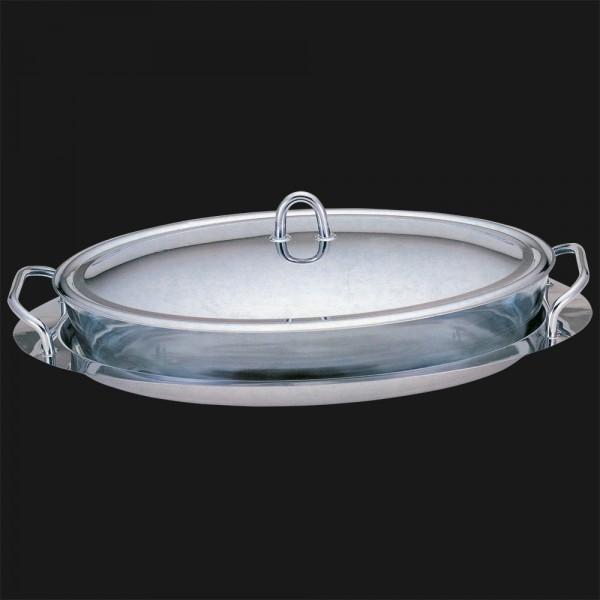 Blaumann - Ohřívač jídla s borosilikátového sklem 3 l + podnos, BH-1385