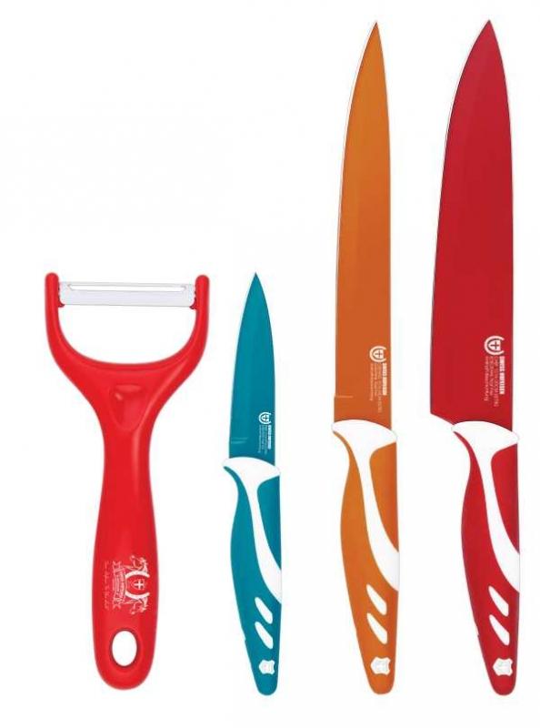 BLAUMANN - Sada keramických nožů 3ks + škrabka