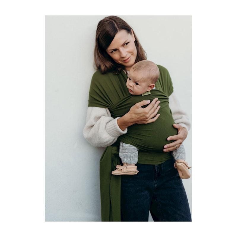 BOBA - Nosič dětí / šátek Wrap Serenity Pesto
