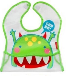 BOBO BABY - Dětská zástěrka Příšerka - zelená