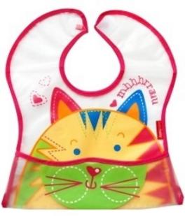 BOBO BABY - Dětská zástěrka Tygřík - růžový