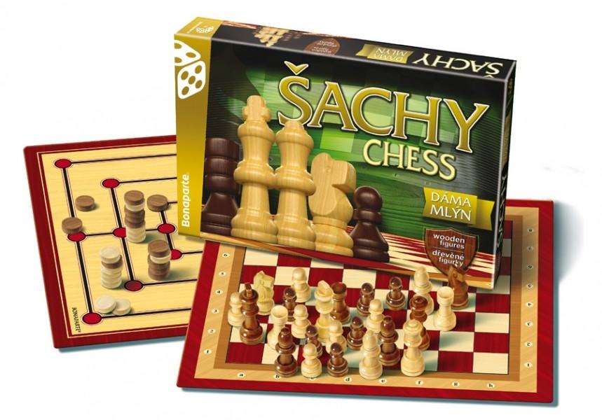 BONAPARTE - Společenská hra Šachy, Dáma, Mlýn