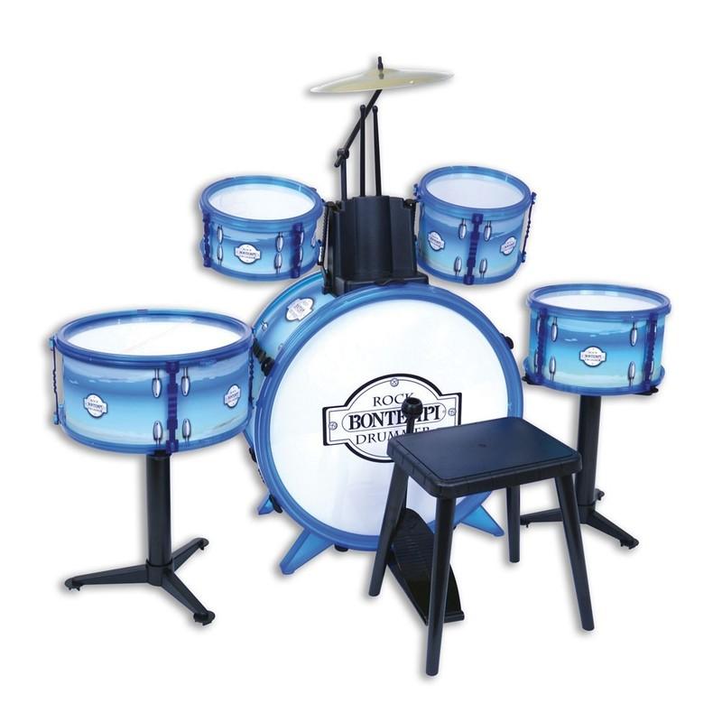 BONTEMPI - Dětská bicí sada 6 dílů s židličkou 514831