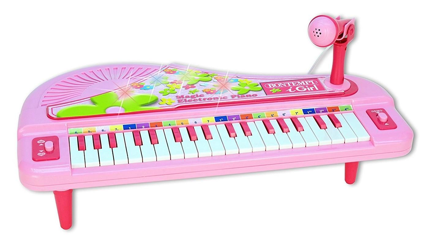 BONTEMPI - dětské elektronické Grand Piano s mikrofonem Magic 102071