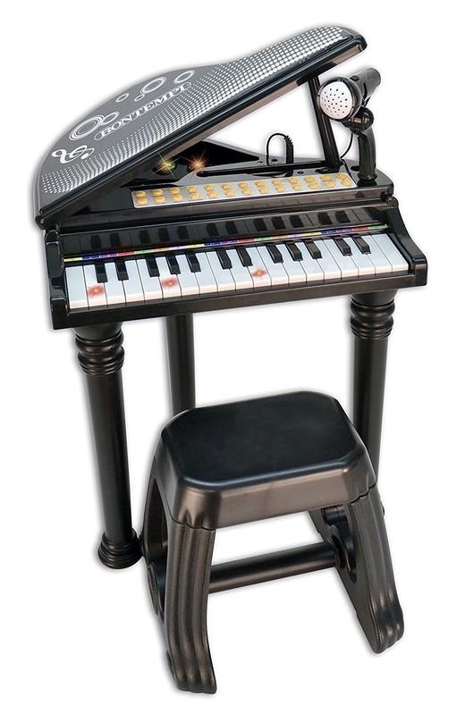 BONTEMPI - Dětské elektronické Grand piano se stoličkou a mikrofonem 103000