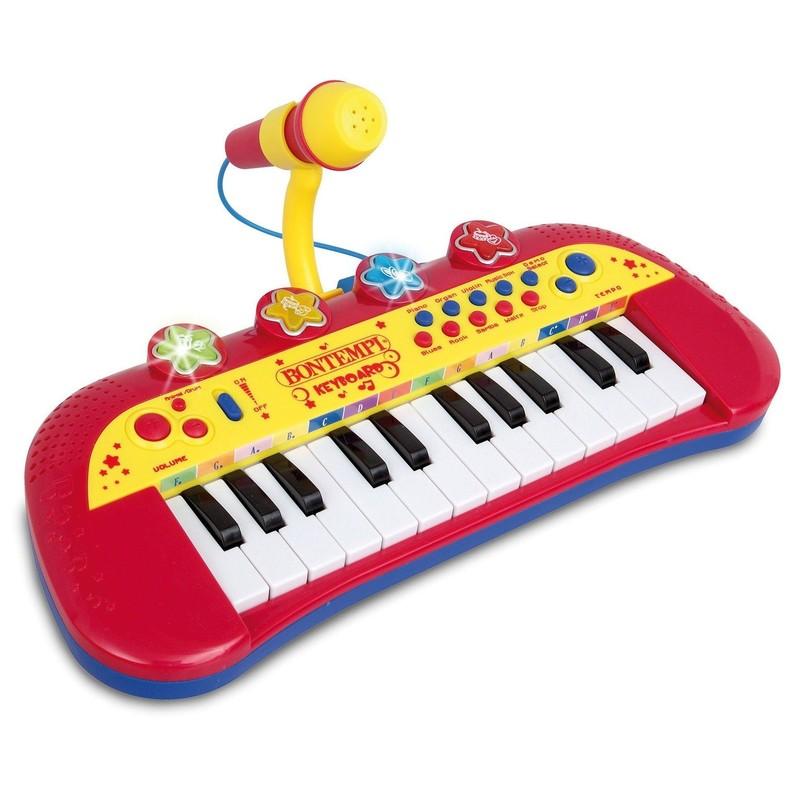 BONTEMPI - dětské elektronické klávesy s mikrofonem 122931