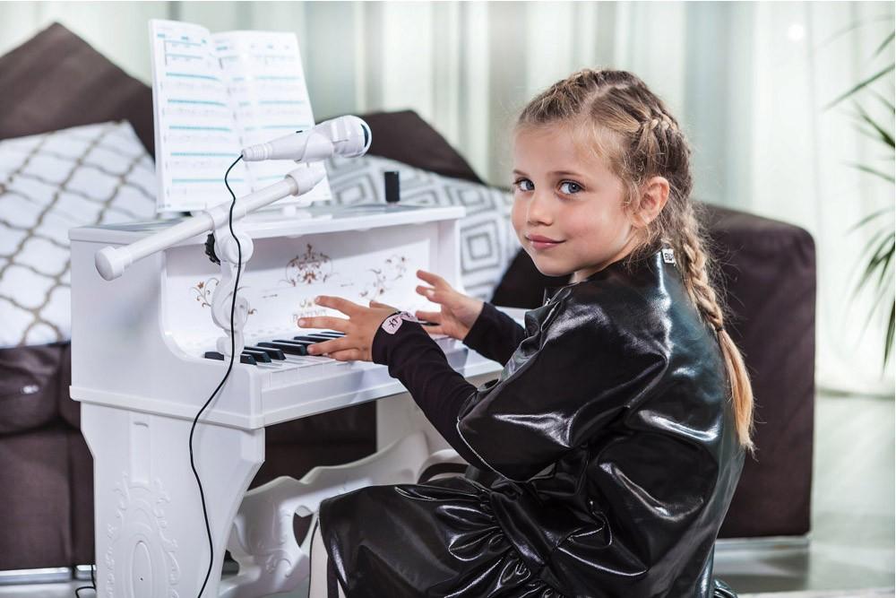 BONTEMPI - Dětské elektronické Piano se stoličkou a mikrofonem 108000