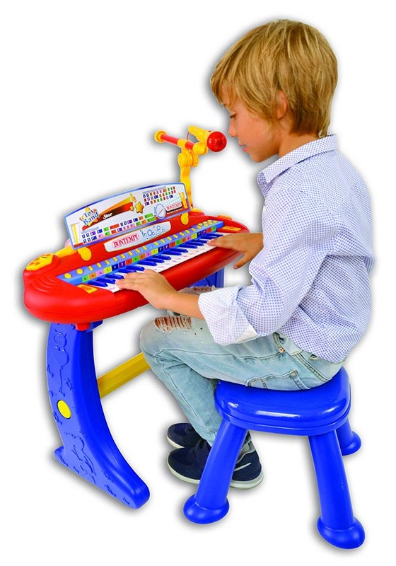 BONTEMPI - Dětské elektronické piano se stoličkou a mikrofonem 133441
