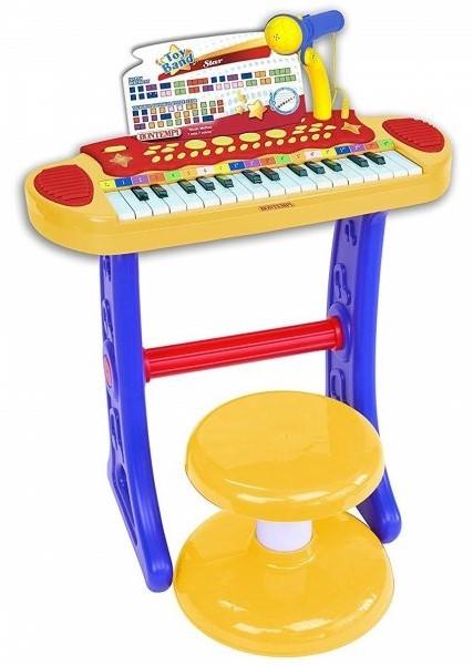 BONTEMPI - Dětské elektronické piano se stoličkou a mikrofonem 133242