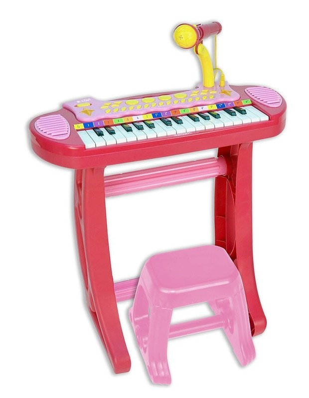 BONTEMPI - Dětské elektronické piano se stoličkou a mikrofonem 133671