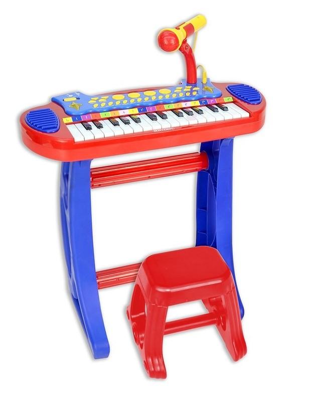 BONTEMPI - Dětské elektronické piano se stoličkou a mikrofonem 133240