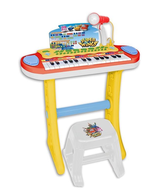 BONTEMPI - Dětské elektronické piano se stoličkou a mikrofonem Super Wings 133269
