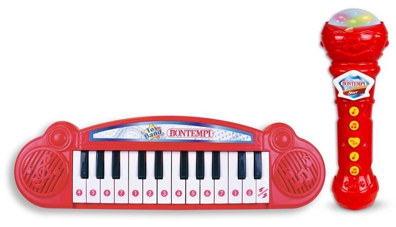 BONTEMPI - Dětské klávesy s mikrofonem