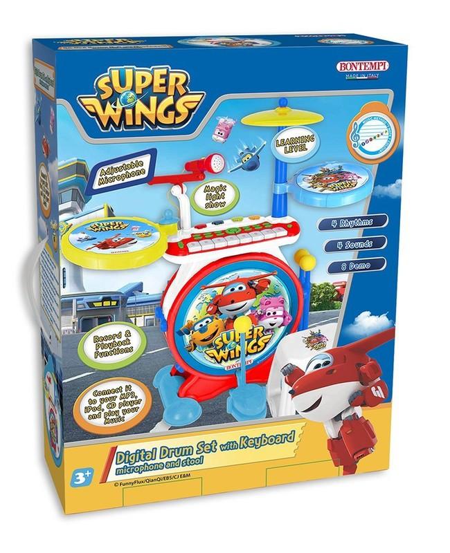 BONTEMPI - Digitální bicí souprava s klávesami Super Wings 524069