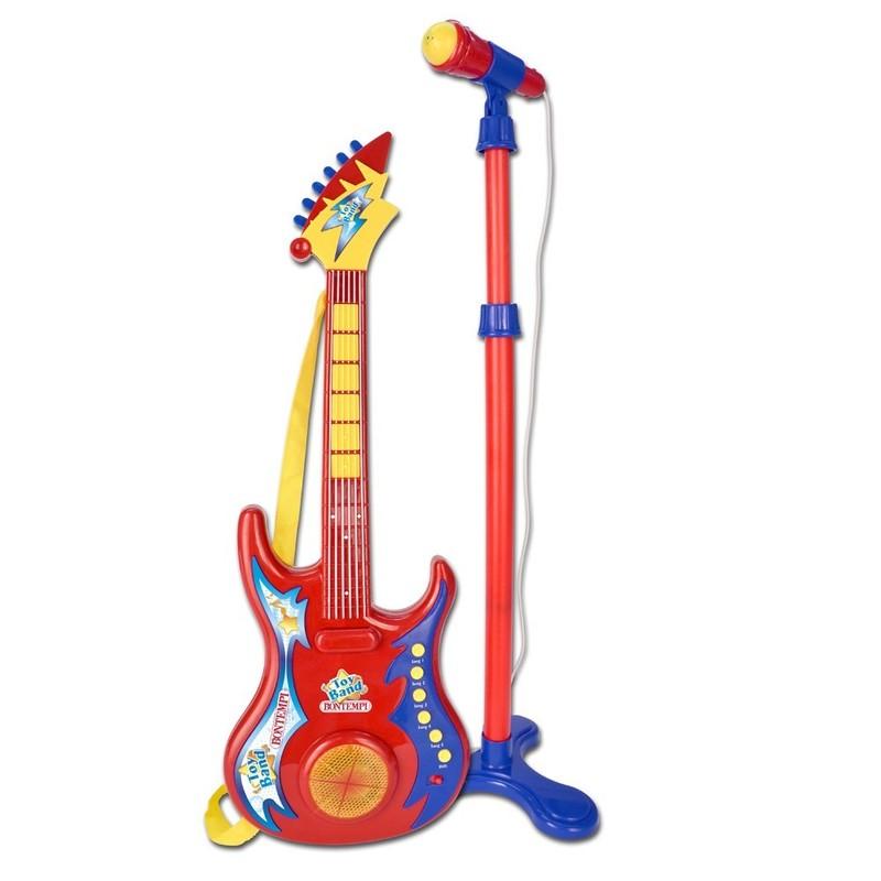 BONTEMPI - Elektrická kytara s mikrofonem a stojanem 247020