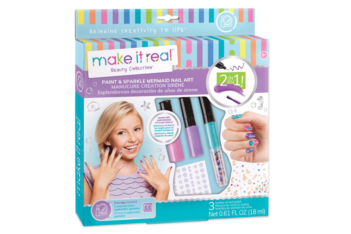 MAKE IT REAL - Laky na nehty se zdobením, Pro děti od 8 let