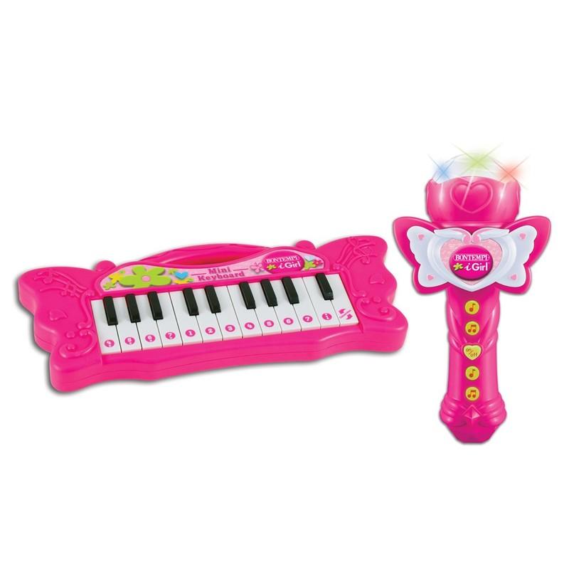 BONTEMPI - mini piáno s karaoke mikrofonem 602171