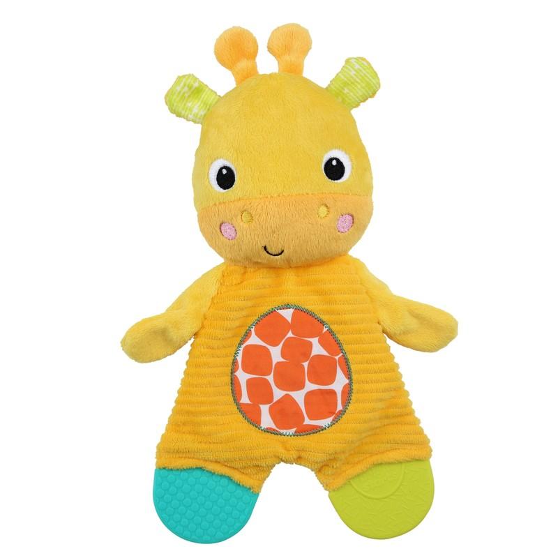 BRIGHT STARTS - Hračka - kousátko snuggly & Teeth žirafa 0m +