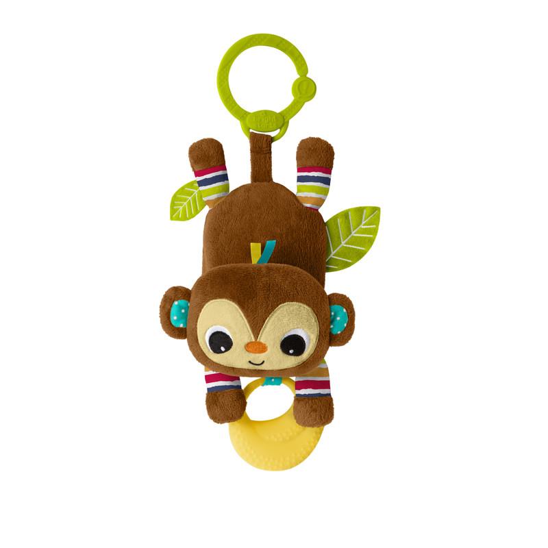 BRIGHT STARTS - Hračka na C kroužku Banana tantrum opička 0m +