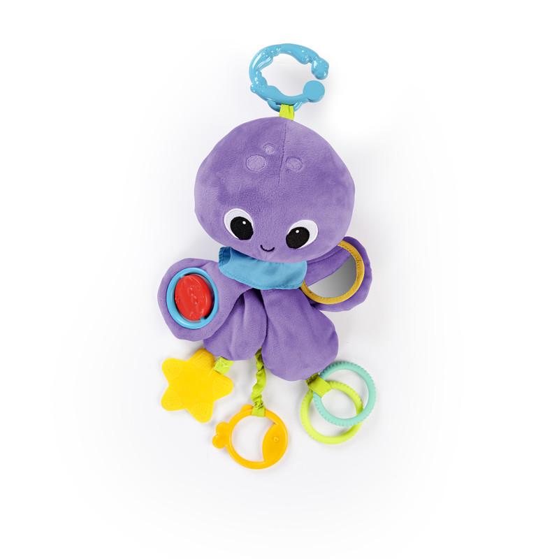 BRIGHT STARTS - Hračka na C kroužku TWIRL Whirly chobotnička 0m+
