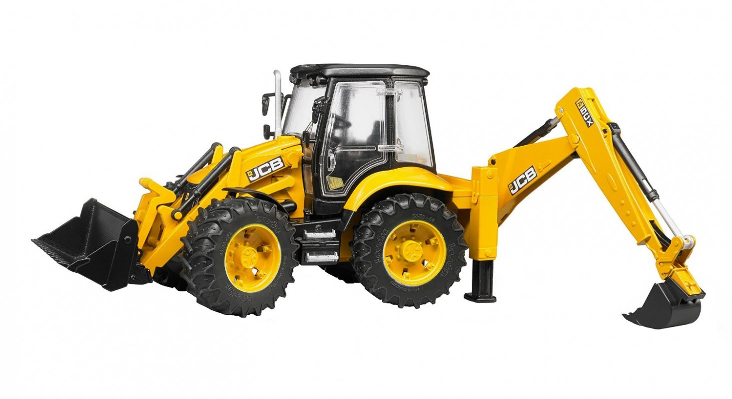 BRUDER - 02454 Traktor JCB 5CX s bagrem a nakladačem