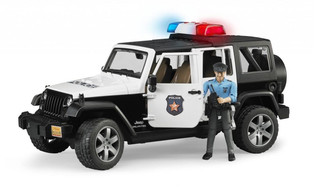 BRUDER - 02526 Jeep Wrangler Policie s figurkou